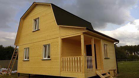 Проекты каркасных дачных домов Каркас-58 Пенза