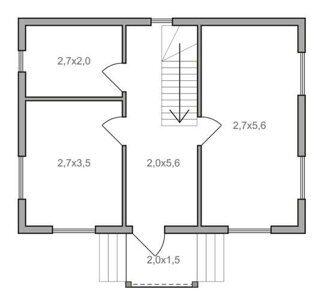 План дачного дома 6 на 8 с мансардой в Пензе
