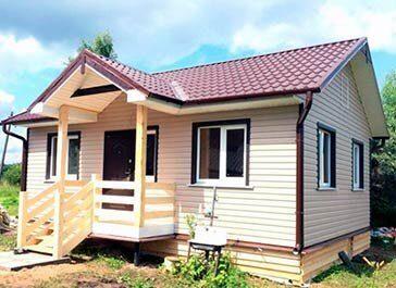 Дачный домик 6 на 8 метров по недорогой цене летний вариант под ключ
