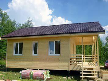 Дача по каркасной технологии, домик 6 на 7 метров в Пензе