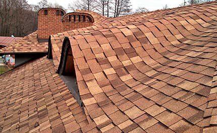 Красивая крыша с фото гибкой черепицы