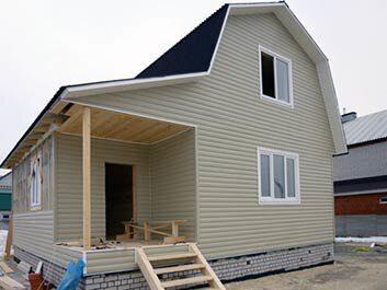 Проект и строительство дачного домика 6х6 с мансардой и санузлом в Пензе