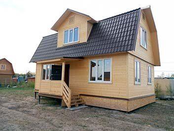 Каркасный дачный дом 8х6 на садовом участке 6 соток в Пензе под ключ