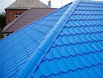Цена за 1 м2 строительства вальмовой крыши и монтажа металлочерепицы