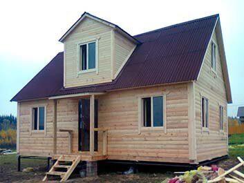 Фото дачного дома 6х8 с мансардой проект и строительство под ключ в Пензе