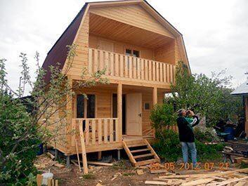 Каркасный дачный домик 6х5 метров с мансардой строительство под ключ недорого