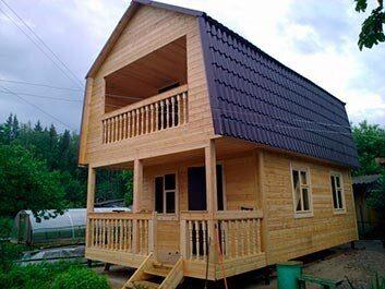 Дачные домики каркасные 5х5 и 6х6 под ключ - фото, проеты, строительство в Пензе